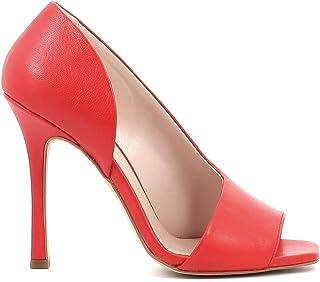 Pierfrancesco Vincenti Sandali in Pelle con Tacco Alto a Spillo - Scarpe Donna Made in Italy Colore Rosso