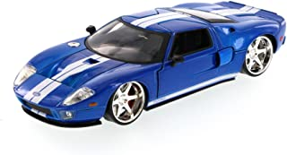 Fast & Furious Ford GT Hard Top, Blue - JADA 97307 - 1/24 Scale Diecast Model Toy Car, but NO Box