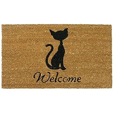 Rubber-Cal Meow Cat Welcome Mats Cat Doormat, 18 x 30-Inch