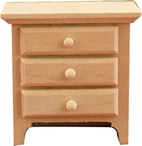 Shuohu Night Table Nightstand Model for 1:12 Scale Dollhouse, Miniature Decorative Furniture Model Toy