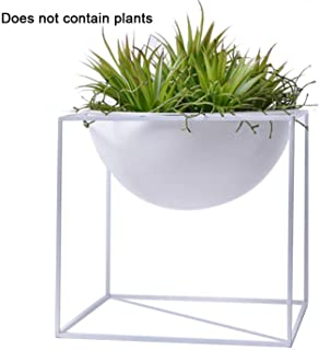 European Style Iron Balcony Succulent Plant Flower Pot Flower Stand Bonsai with Pot Storage Box Indoor Flower Stand Fruit Pot,White M
