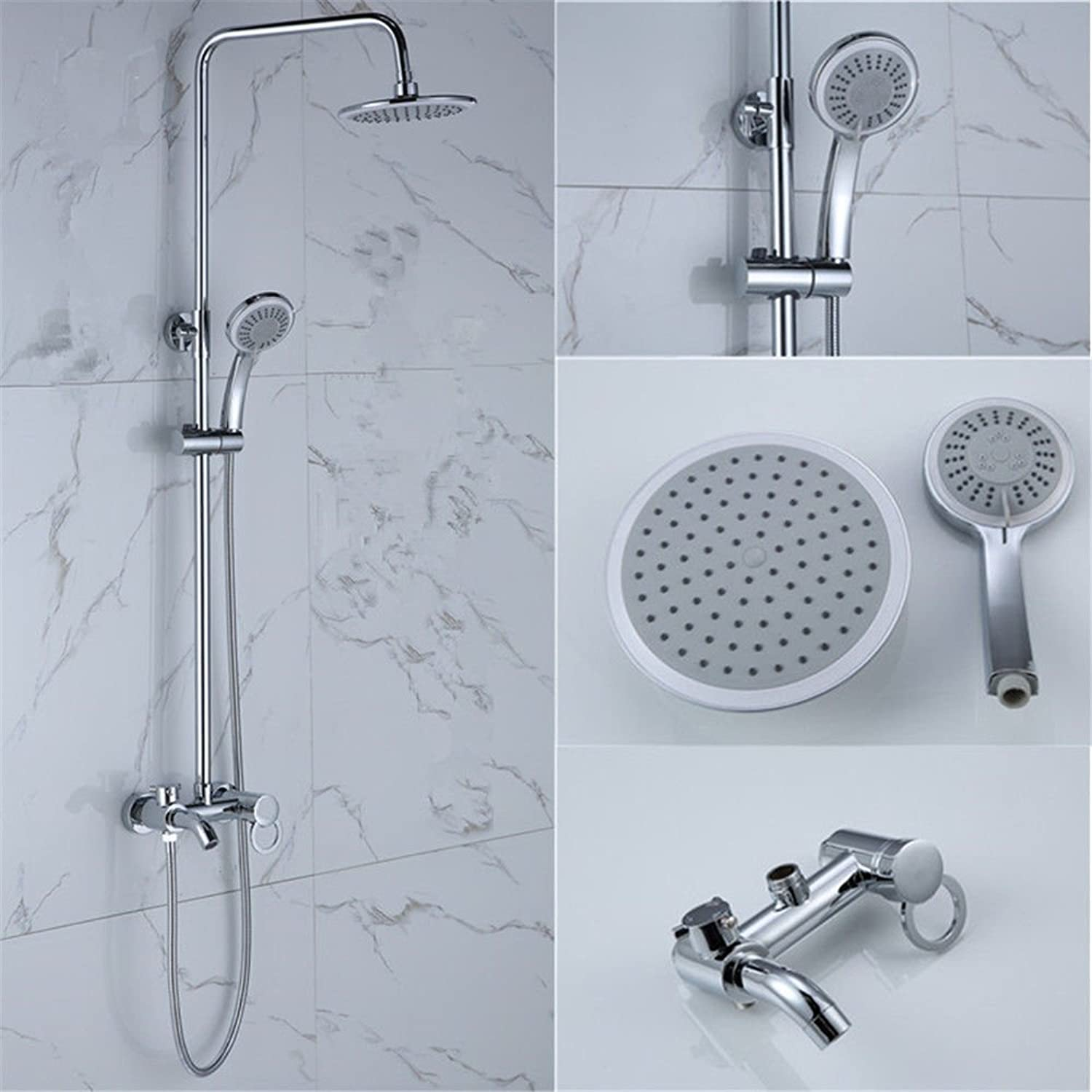 AQMMi Bathroom Sink Mixer Tap Brass Shower Set Single Lever Taps for Bathroom Sink
