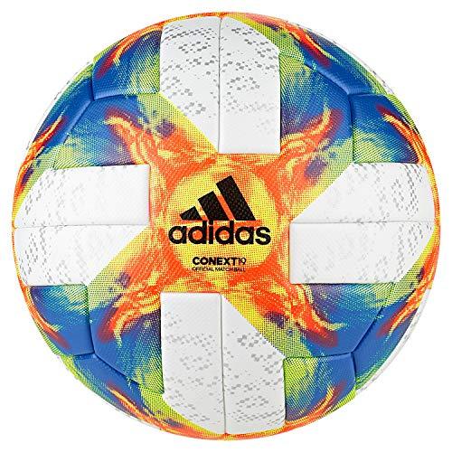 adidas Conext 19 Omb Ball, Herren, White Yellow/Solar Red/Football Blue, Größe 5