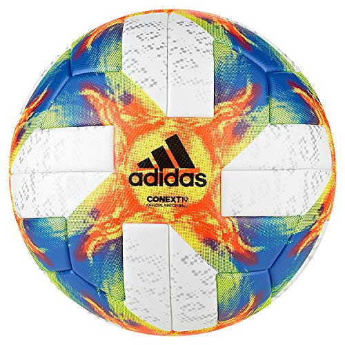 adidas Conext 19 Omb Ball, Herren, White Yellow/Solar Red/Football Blue, Größe 5