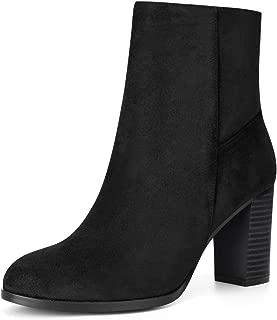 Women's Block High Heel Ankle Booties