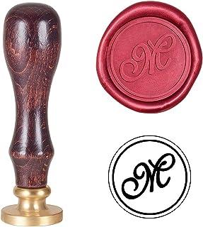 stile retr/ò personalizzato per feste di Natale lettere e buste Timbro di ceralacca in stile vintage biglietti di invito fai da te con manico in legno