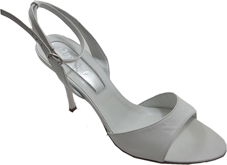 Dyva Designer 19947 Women's Italian Leather Open Toe Back Strap Mid Heel Sandal