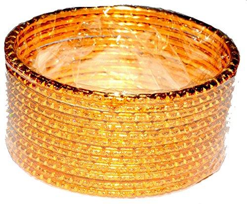 Metall Armreifen ArmbandBangle Set Bollywood Schmuck Damen Handschmuck Chudi Multicolor Geschenk Hochzeit indisch hippie mädchen modeschmuck-gold,Size - 2.6 (6 cm)