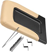 Center Console Lid Replacement Kit Beige - Replaces 924-811, 19127364, 19127365, 19127366, 924-812 - Fits Chevy Silverado, Avalanche, Tahoe, Suburban, GMC Sierra, Yukon - Interior Armrest Hinge Latch
