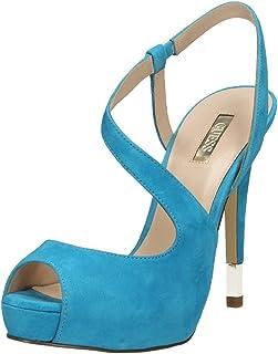 GUESS Femme Escarpins Pumps Stiletto sandales à lanières Turquoise
