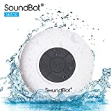 SoundBot SB510 HD Water Resistant Bluetooth 4.0 Shower Speaker, Handsfree Portable Speakerphone with Built-in Mic, 6hrs of Playtime, Control Buttons and Dedicated Suction Cup for Showers (White)