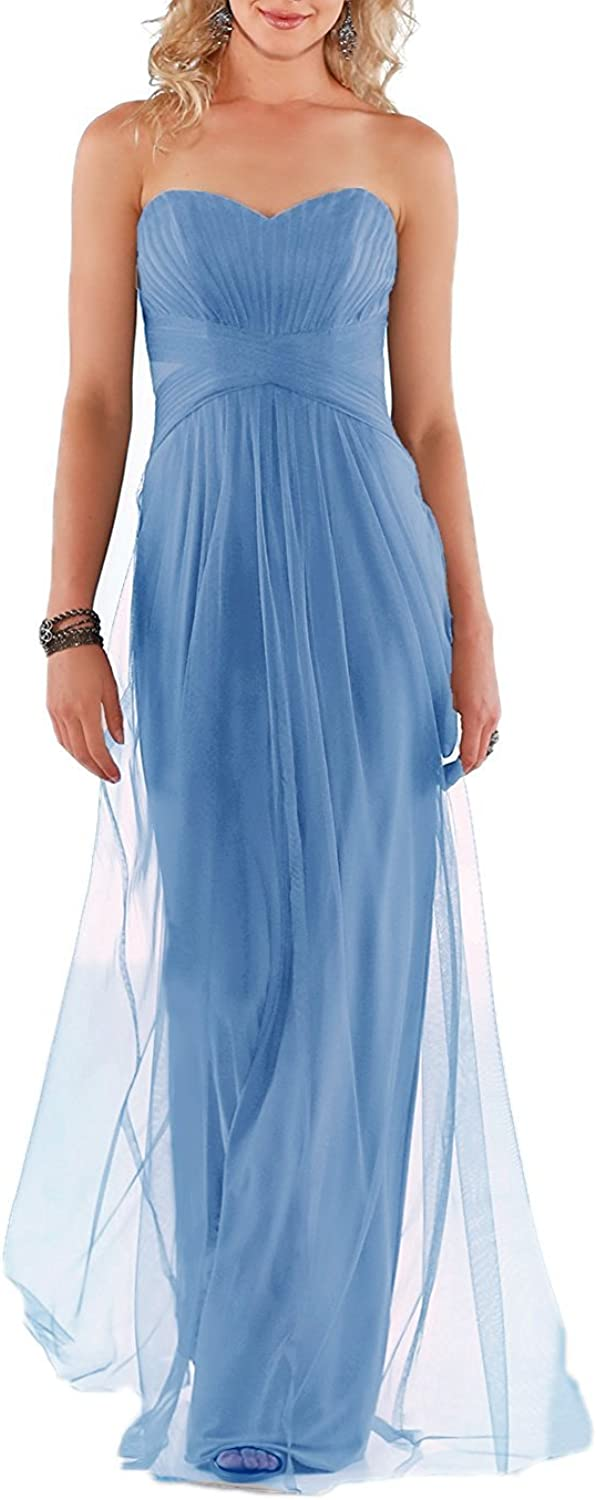 Awishwill Women's Sweetheart Prom Party Dress Long Tulle Formal Evening Gown