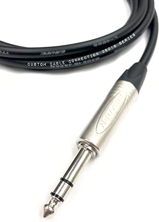 1 Foot Canare L-4E6S Star Quad XLR Female to 1//4 6.35mm TRS Balanced Microphone//Audio Cable by Custom Cable Connection