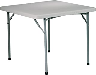 Office Star Resin Multipurpose Square Table, 3-Feet