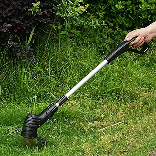 Grass Trimmer Small Hand-held Lawn Mower Lightweight Electric Cordless Rechargeable Wireless Convenient Gardening Tool (A)