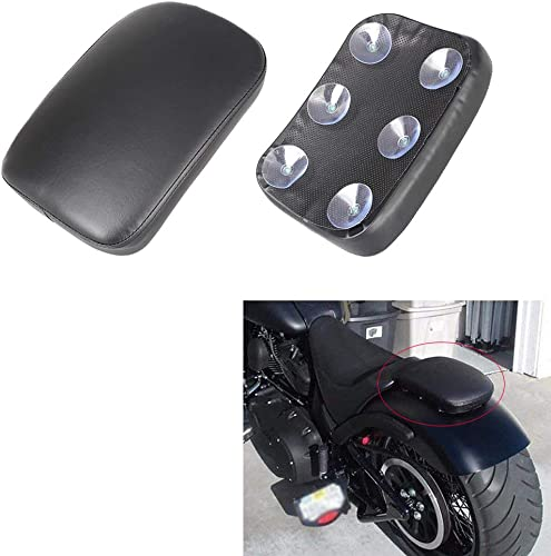 high quality Mallofusa discount Motorcycle Pillion Seat Pad Passenger Rear Seat Cushion Compatible for outlet online sale Motorcycles Cruiser Chopper Custom Black sale