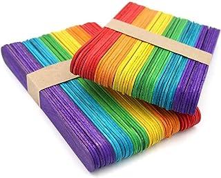 Ice Cream Sticks, DELFINO Wooden Craft Sticks, Craft Sticks, Wood Sticks for DIY Art Crafts Designs Wooden Plant Markers, ...