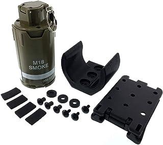 SP製 GR03 110発 6mm BB弾専用 インパクト グレネード スプリング式 ホルダー ベルト付 プラスチック製 - グリーン【SportPro クリーニングクロス付】