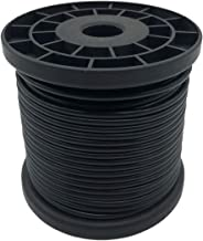 NITOO Stainless Steel 304 Black Wire Rope, 7x7 Strand Core Vinyl Coated,for Hanging String Light, Crafts,1/16 Wire Rope ,Coated Outer diameter is 3/32, 160' Length, 326 lbs Breaking Strength