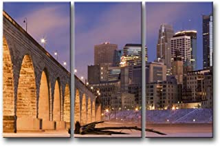 So Crazy Art 3 Pieces Wall Art Painting Bright Stone Arch Bridge Minneapolis Prints On Canvas The Picture City Pictures Oil For Home Modern Decoration Print Decor For Items