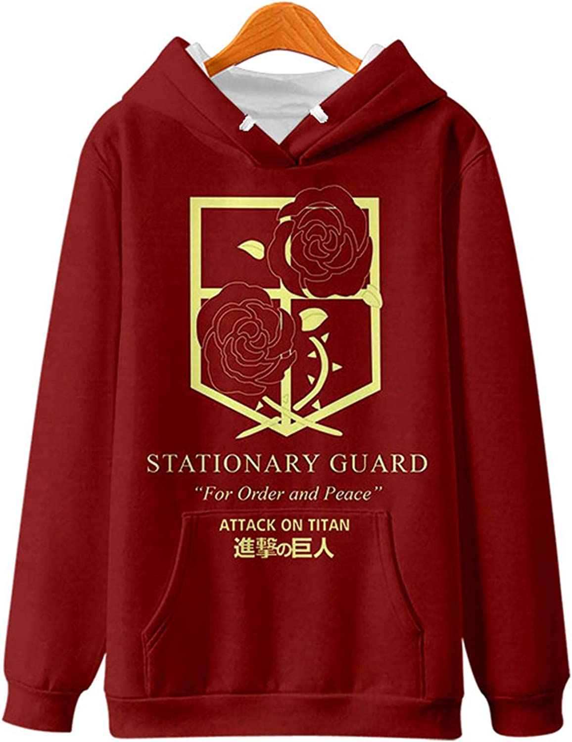 AMOMA Anime Attack On Fashion Titan Sleeve Long 2021new shipping free Scouting Pullover Unisex