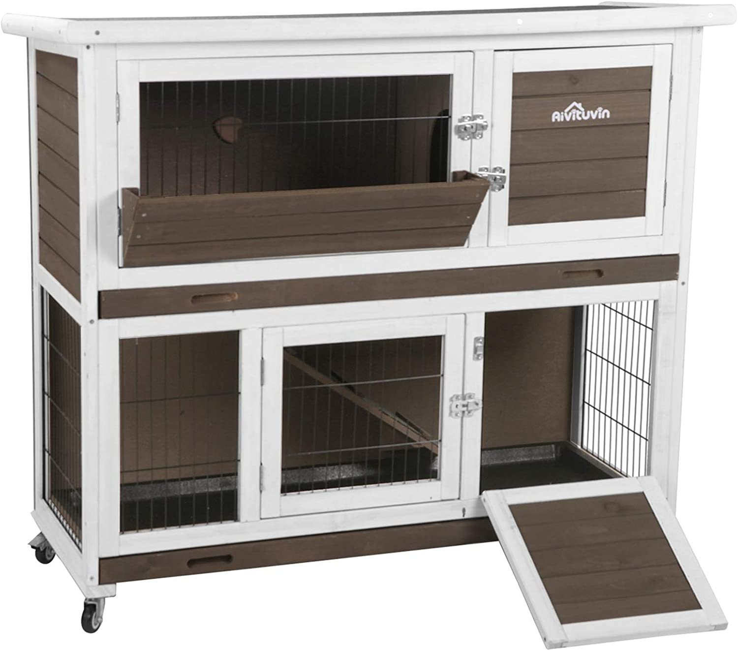 Aivituvin Rabbit Hutch Max 73% OFF Bunny Recommendation Cage Guinea Pig Outdoor Indoor Hous
