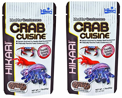 (2 Pack) Hikari Crab Cuisine Rapidly Sinking Sticks for Bottom Feeders and Crustaceans - 1.76 Ounce each