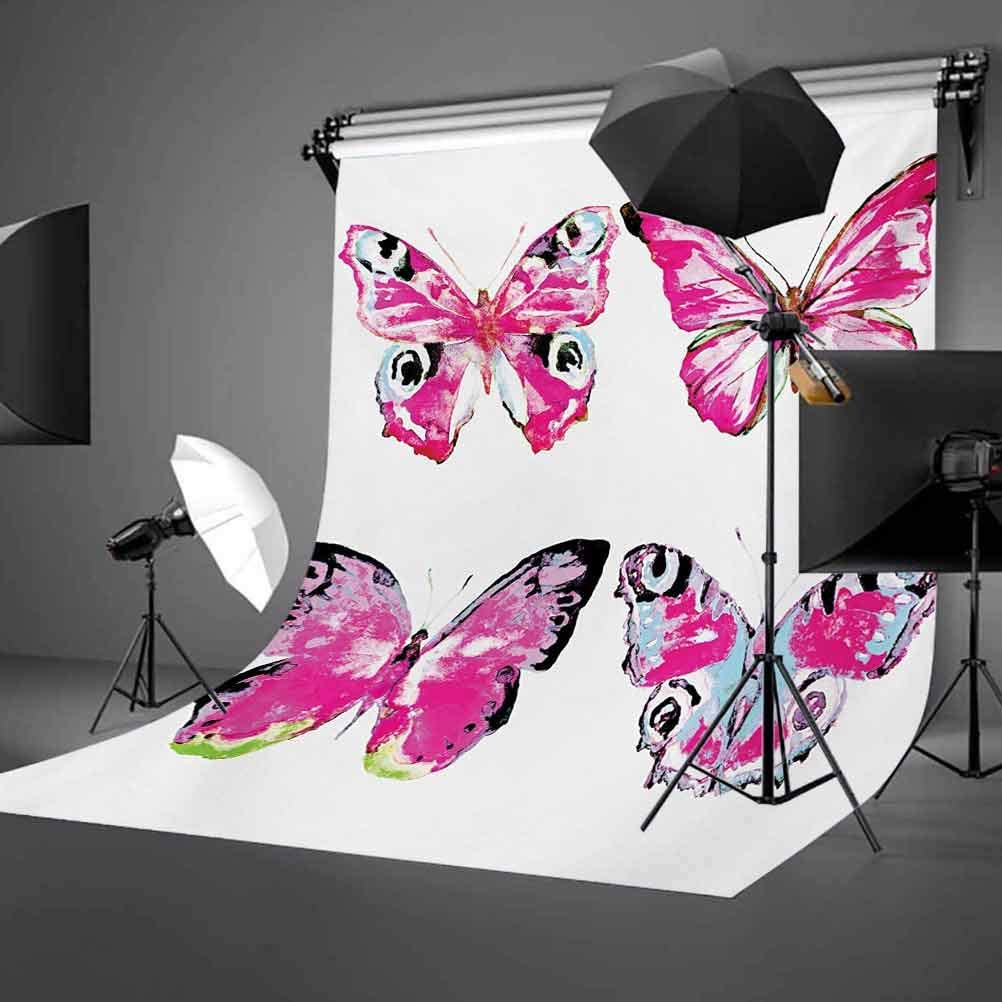 Princess 6.5x10 FT Photo Backdrops,Flower Fairy with Butterflies Wings Branches Ornaments Floral Spring Forest Background for Photography Kids Adult Photo Booth Video Shoot Vinyl Studio Props