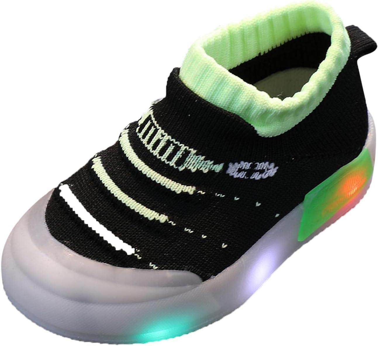 Baby Girls Boys Led Classic High quality Light Luminous Trainers Flashing Children So