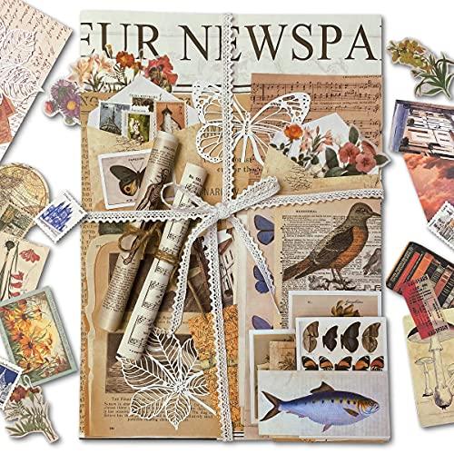 192PCS Scrapbooking Supplies Pack for Journaling,DIY Vintage Scrapbook Stickers...