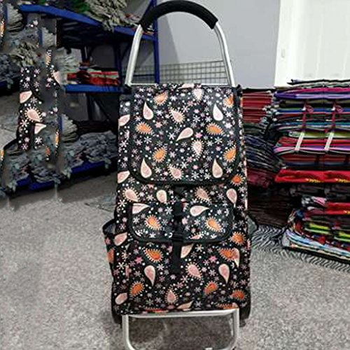 Lightweight Shopping Trolley, Hard Wearing & Foldaway For Easy Storage (Color : Water drop)