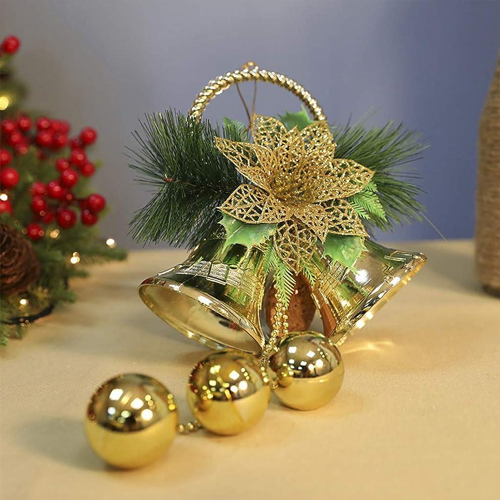 相互前投薬請求クリスマスジングルベル3個、ドア/クリスマスツリーハンギングオーナメント、クリスマス用品色の小さなベル(8cm / 10cm)