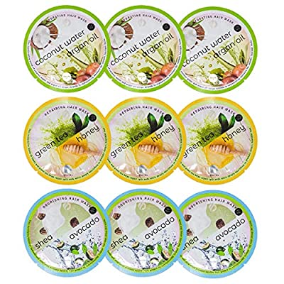 Spa Life Assorted All Natural Hair Mask 9 pack