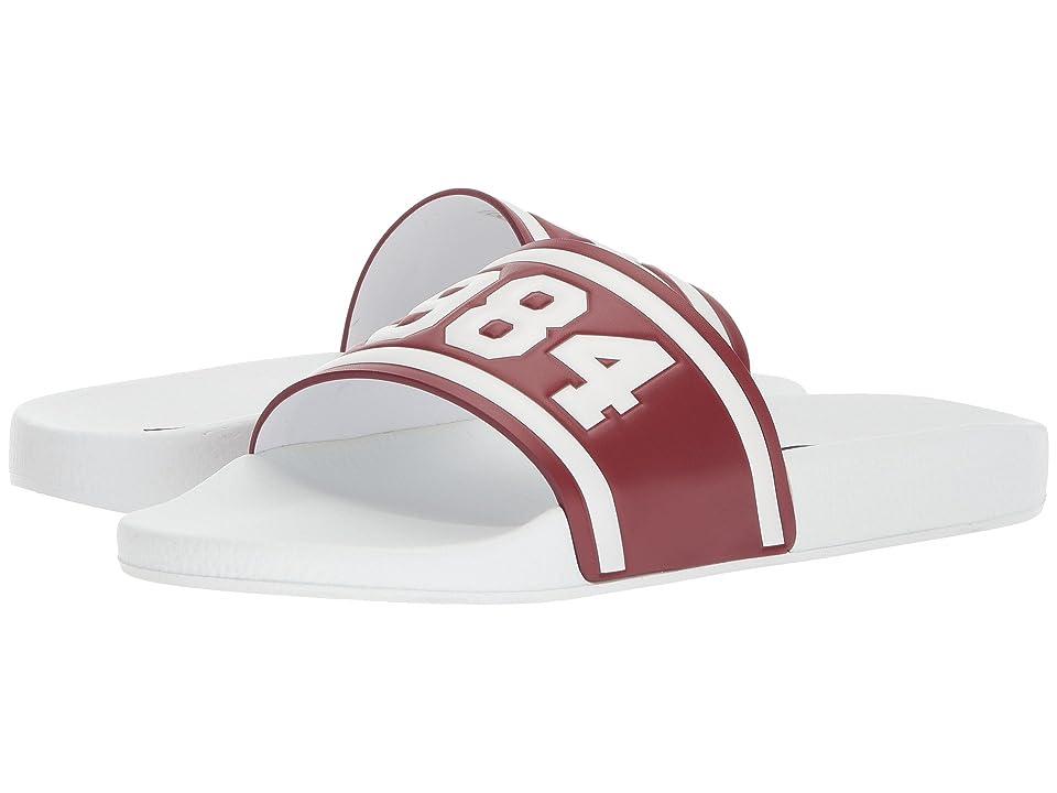 Dolce & Gabbana Pool Slide Sandal (Red/White) Men