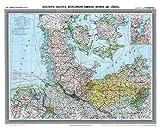 Historische Karte: Provinz SCHLESWIG-HOLSTEIN im Deutschen Reich - um 1900 [gerollt]: Carl Flemmings Generalkarte, No. 14. Mit Mecklenburg, Hamburg, Bremen und Lübeck
