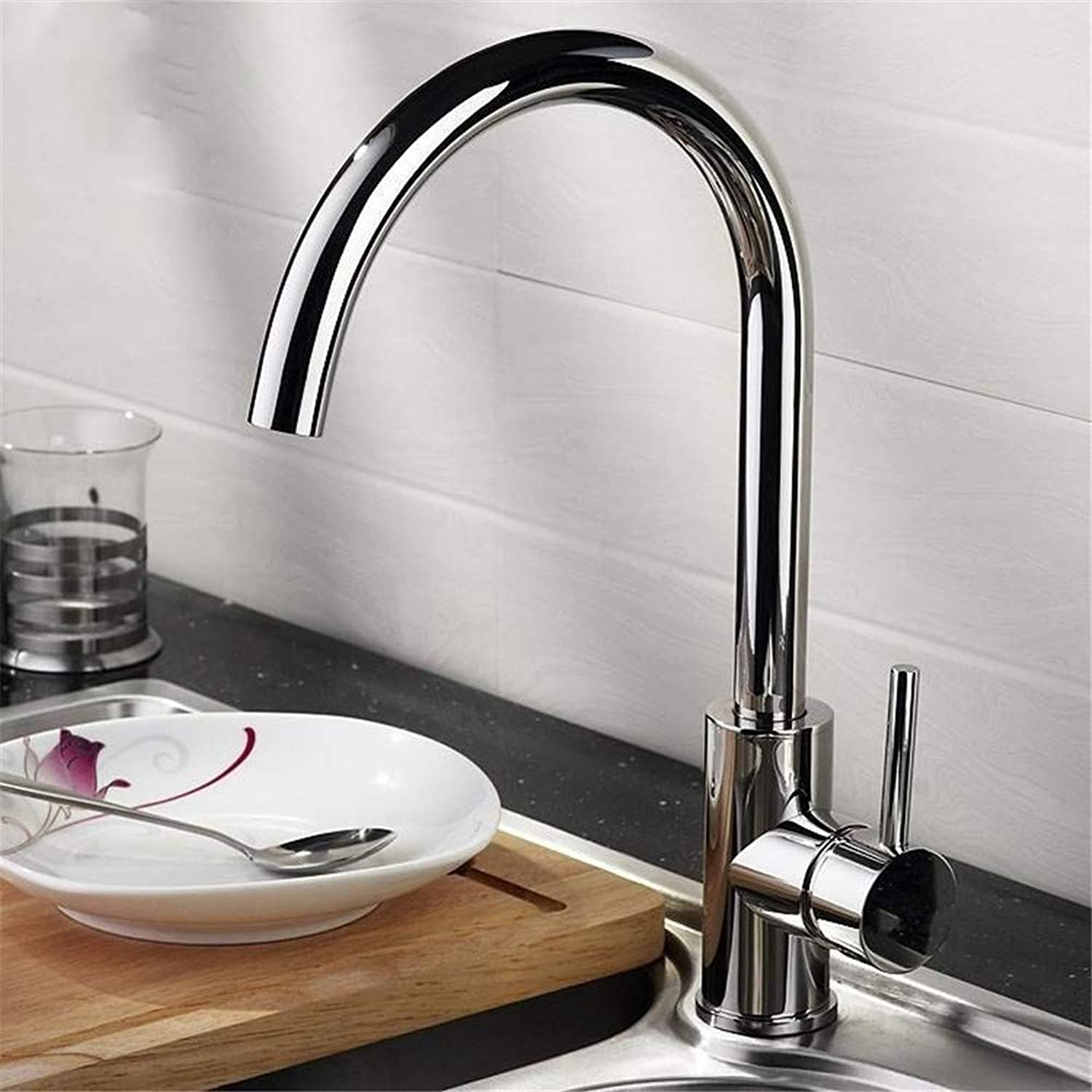 Oudan Kitchen Mixer redatable Vegetables Basin Mixing Faucet All Copper Single (color   -, Size   -)