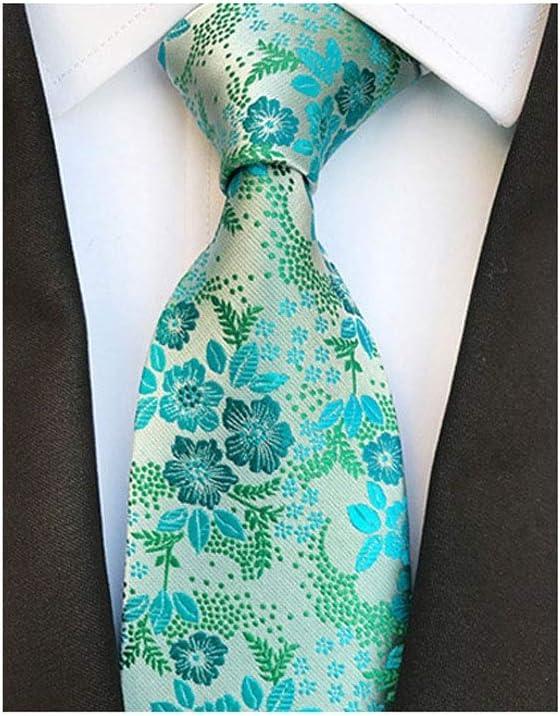JJZXC Silk Men's Floral Tie Jucquard Necktie Suit Men Business Wedding Party Formal Neck Ties Gifts Cravat (Color : B)