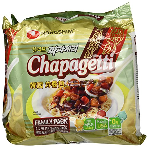 Nongshim Chapagetti Chajang Noodle, 4.5 Ounce (Pack of 4)