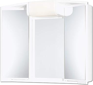 JOKEY armoire à glace Angy - Largeur 59 cm – blanc – avec éclairage - blanc – miroir de salle de bain