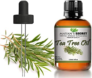 Tea Tree Oil - 100% Pure and Natural Therapeutic Grade Australian Melaleuca Backed by Medical Research - Huge 4 oz Glass bottle