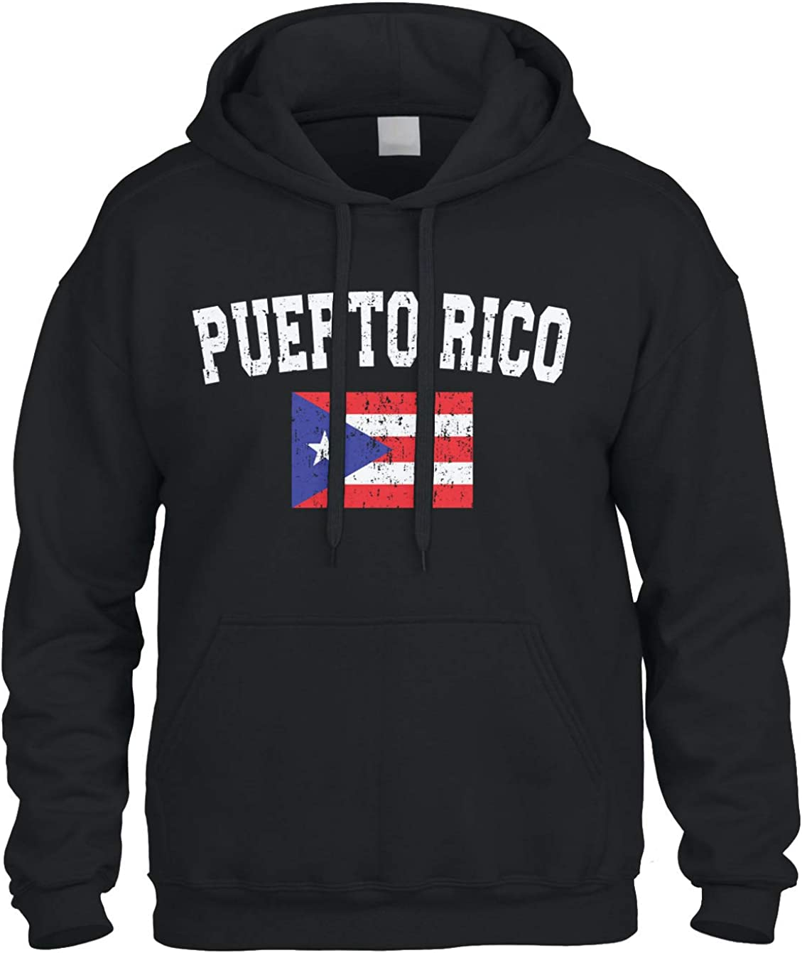 Faded Distressed Puerto Super special price Rico Louisville-Jefferson County Mall Hoody Flag Hoodie Sweatshirt