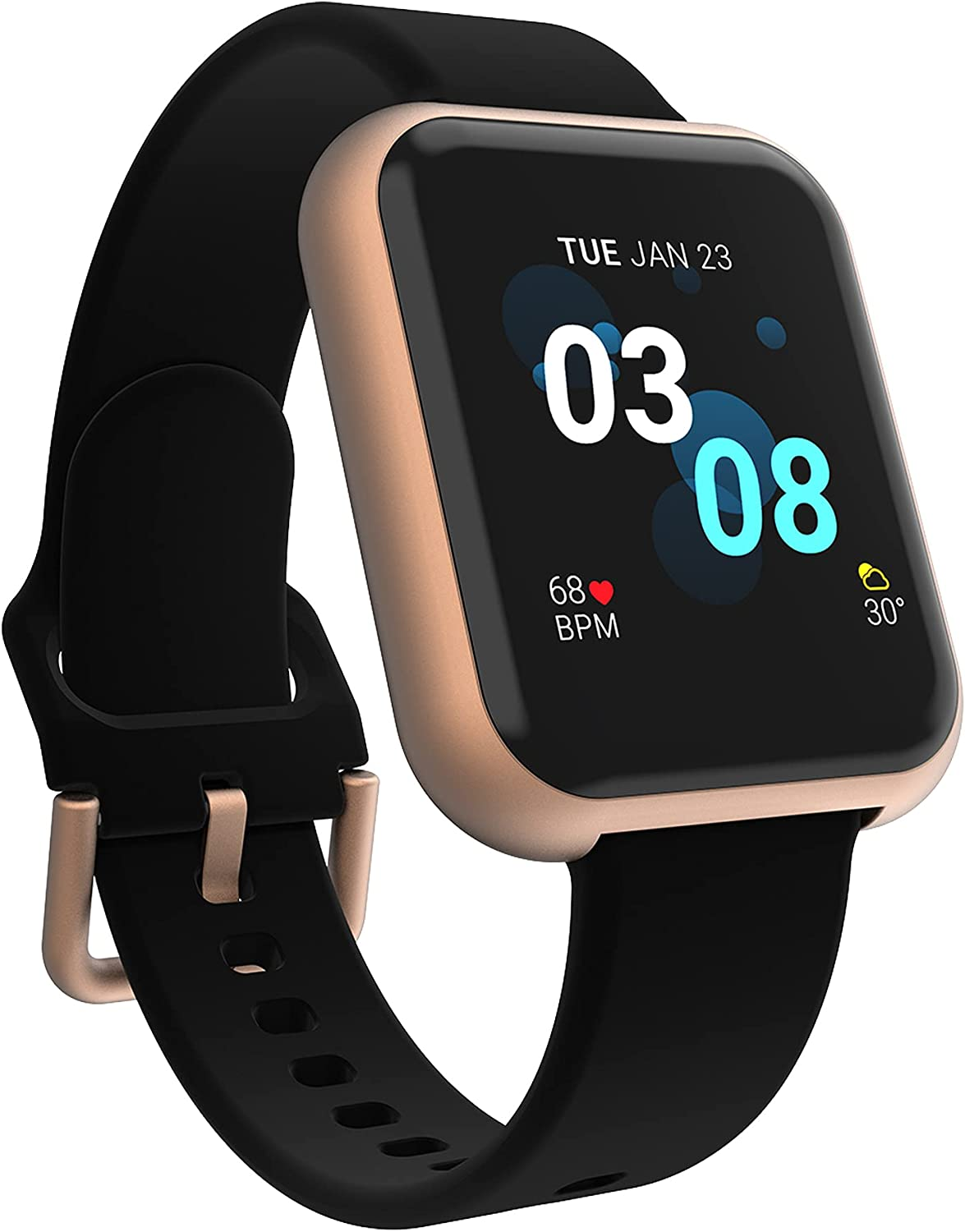 iTouch Air 3 Smartwatch Fitness Tracker, Heart Rate, Step Counter, Sleep Monitor, Message, IP68 Swimming Waterproof for Women and Men, Touch Screen, Compatible with iPhone and Android (40mm)