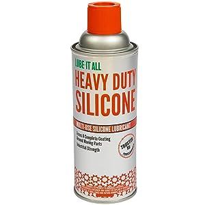 Gasoila Lube-It All Heavy Duty Silicone Lubricant, Industiral Strength Multi-Use Lubricant, 10 oz. Aerosol (LA12SL)