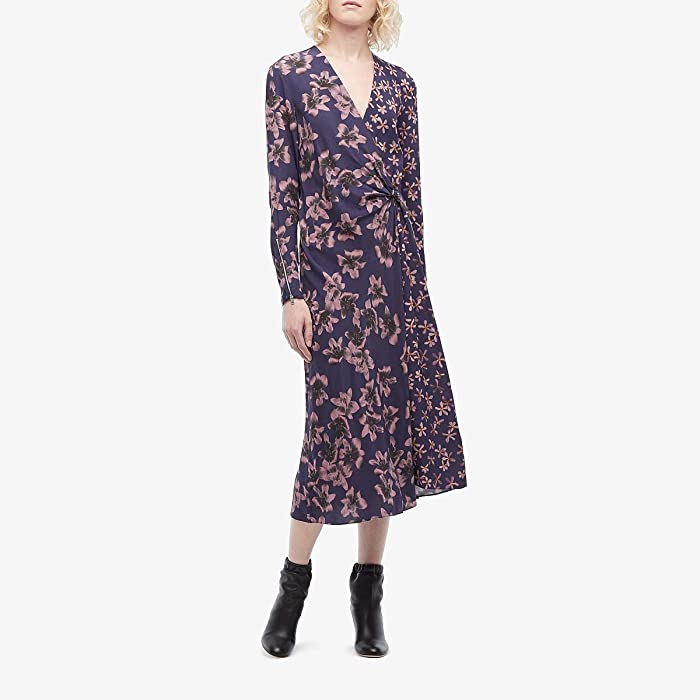 rag and bone  Odette Dress (Violet Flower) Womens Clothing