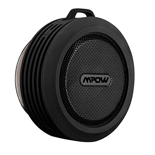 Mpow Buckler Wireless Waterproof Shower Speaker Bluetooth with Built-in Speakerphone for Shower or Outdoor