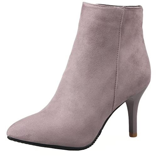 32ef3f901e2 High Heel Pink Boots: Amazon.co.uk