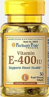 Puritan's Pride Vitamin E-400 IU, Softgels, 50ct