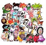 GSNY Estilo de Tinta explosiva Dibujos Animados Acuarela Animal Graffiti Pegatinas Batería Coche Car Trolley Estuche Cuenta de Mano Pegatinas Impermeables 50 Hojas