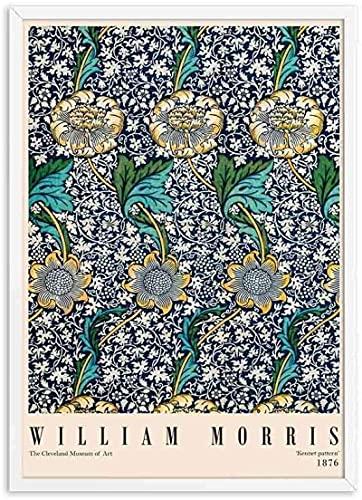 YaShengZhuangShi Póster de exposición Impreso de William Morris sin Marco de 70x90 cm, Pintura de Movimiento artístico de Londres, Pintura de Lienzo de decoración de Pared