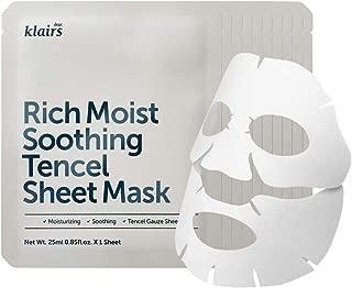 Rich Moist Soothing Tencel Sheet Mask 25ml 10 sheets, Mask full of moisturizing nutrients